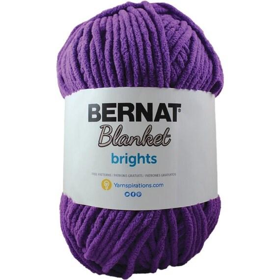 Bernat Blanket Brights Yarn Pow Purple By Kayscrochetpatterns