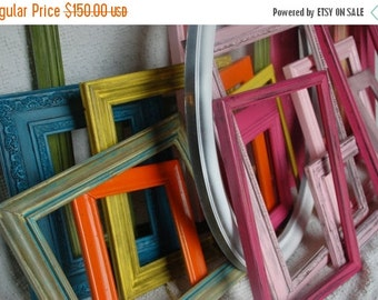 Custom Make your set of 15 frames, wedding,shabby chic,distressed frames