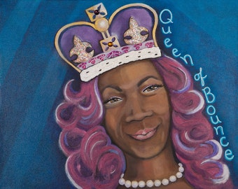 Big Freedia, the Queen of Bounce Original Painting