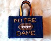 Handmade Season Keepsake Gift Bag-Any Football Team and Monogram