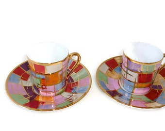 Multicolored coffee cup