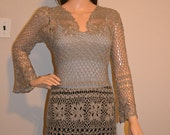Space Grey Custom Made Size Crochet Sweater Sizes 0 to 20.