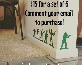 Toy Story Green Army Men Decals