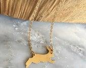 Brass Bunny Necklace