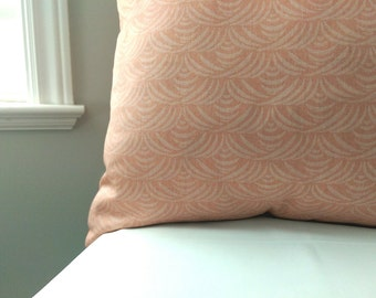 FREE SHIPPING Light Coral Pillow Cover-20x20 Coral Pillow Cover-22x22 Coral Wedding Pillow-24x24 Peach Cushion Cover-18x18 vintage fabric