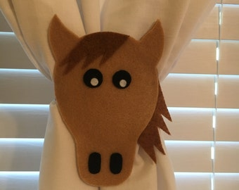 Horse Curtain Tie-Backs (Set of 2)