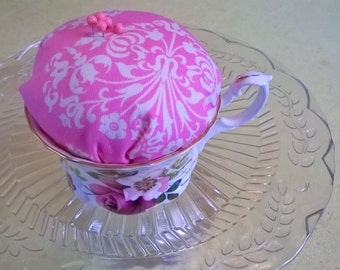Vintage Cup Pin Cushion