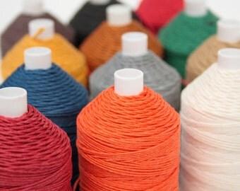 Linen Thread 4-ply, 50g Spool, NeL 18/4, English, Non-Waxed