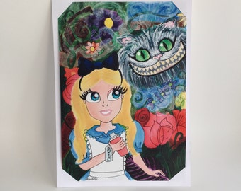 Alice in Wonderland limited edition A5 digital print