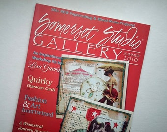 Somerset Studio Gallery Magazine, Summer 2010, Somerset magazine, mixed media magazine, craft magazine, Stampington & Co. DESTASH,