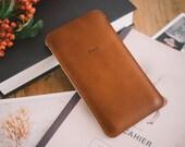 "Nexus 6P Case, Nexus 6P Sleeve, ""Dandy"" - leather, wool felt"