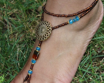 Barefoot sandals Foot Jewelry Barefoot Sandles ---ONE PAIR