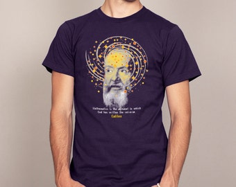 GALLILEO QUOTE Science Nerdy T-shirt Mens and Ladies Sizes
