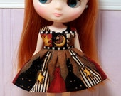 BLYTHE Middie doll Its my party dress - harvest cats