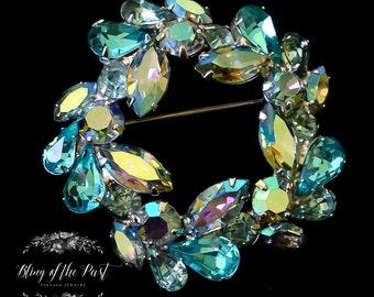 Weiss Jewelry Rhinestone Brooch Vintage Jewelry