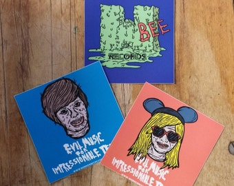 Workerbee Records Stickers Set