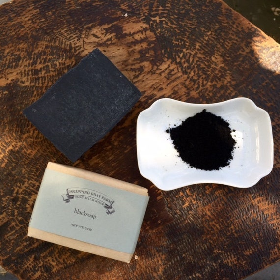 Blacksoap Activated Charcoal Soap with goat milk