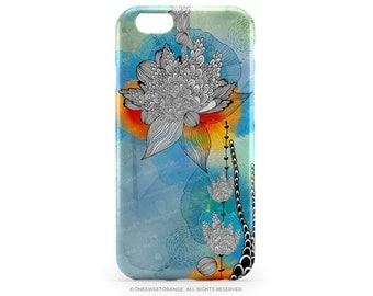 "iPhone SE Case iPhone 6S Plus Case Floral iPhone 6 ""Coral"" by Iveta Abolina iPhone 5 Case Aqua iPhone Case Teal Flower iPhone Cover I15"