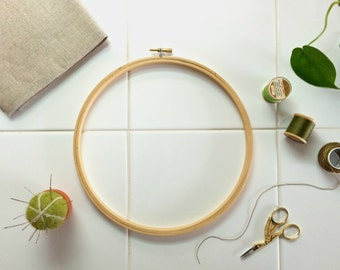 LARGE EMBROIDERY HOOP – 9 Inch needle crafting frame for your diy embroidery supplies