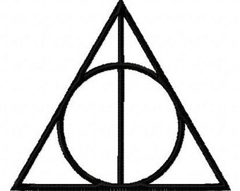 Harry Potter Deathly Hallows symbol machine embroidery design 2 inch instant download