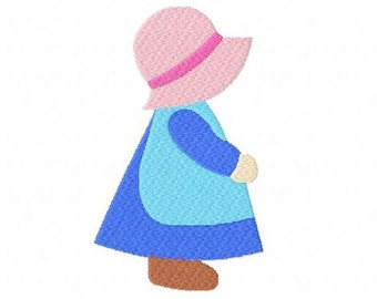 Sunbonnet Sue 4 inch machine embroidery design instant download