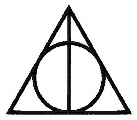 Harry Potter Deathly Hallows symbol machine embroidery design