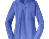 NEW Womens's Running 1/2 Zip - Minerva Cursive Logo