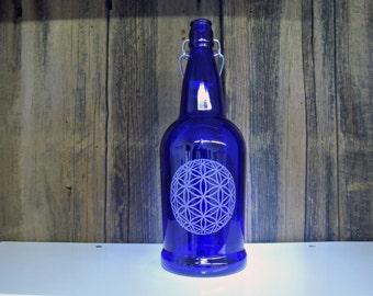 32oz Swing Top Bottle - Flower of Life