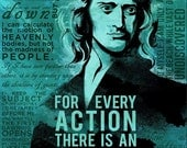 Isaac Newton Science Quotes Poster