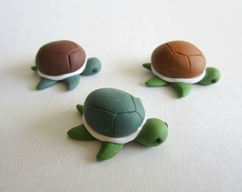 Miniature Turtle Clay Sculptures