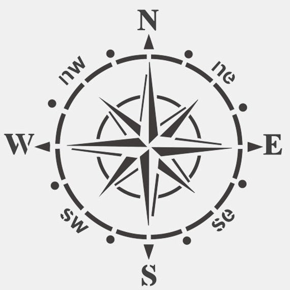 ships compass stencil home nautical decor painting stencil