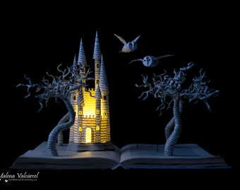 MADE TO ORDER - Fairytale Book Sculpture - Book Art - Altered Book