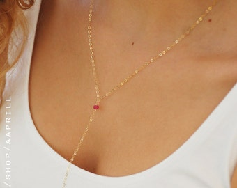 Lariat Necklace, Delicate Necklace Gold Lariat Necklace, Y necklace, bridesmaid Gift, Bridesmaid Necklace