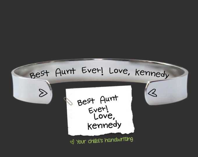 Aunt Gift | Aunt | Gift for Aunt | Gifts for Aunt | Handwriting Gift | Aunt Jewelry | Auntie | Mothers Day | Best aunt ever | Korena Loves