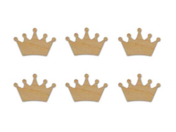 King Crown Crown Shape Wood Cut Out Unfinished Wooden Crowns 6