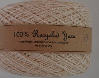 Cotton Blend Yarn Reclaimed Yarn Natural / Beige