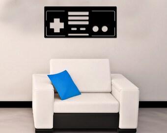 Retro 8-bit controller laser cut metal sign