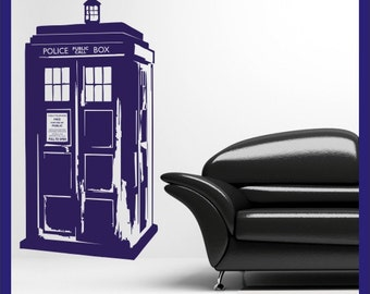 Dr Who's Tardis vinyl wall decal sticker