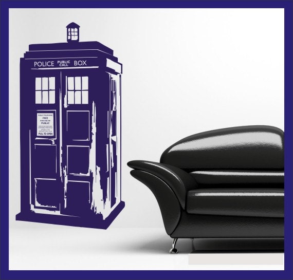 dr who 39 s tardis vinyl wall decal sticker