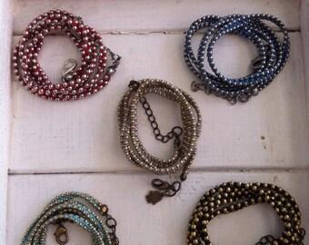 Wrap bracelet , Thread woven bracelet wax discs , wrap bracelet , Valentine gifts for her