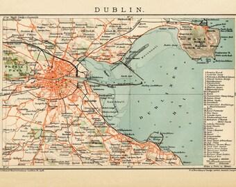 Dublin, World globe, World map print, Ancient maps, Atlas, Ancient map, Map of the world, World maps, Map poster, Old world maps, 242