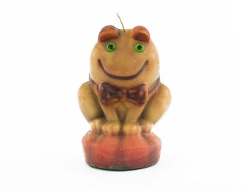 Retro Frog Candle - Never Burned - 1970's