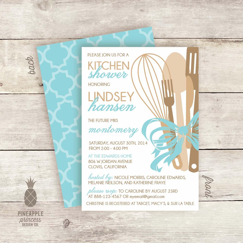 Kitchen Bow Bridal Shower Invitations