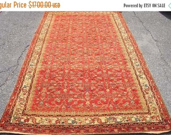 SUMMER CLEARANCE Persian Rug - 1920s Antique Hand-Knotted Malayer Persian Rug (3117)