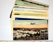 16 vintage NEW YORK STATE postcards - unused lot - linen, white border, chrome 3 1/2 x 5 1/2