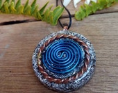 Powerful Orgone Pendant - With Tensor Ring and Teotihuacan coil- EMF protection- Energy Healing - Positive Energy