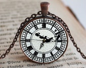 Peter Pan Family on Clock, Peter Pan Necklace, Fairytale, Photo Jewelry, Gift Idea, Photography Jewelry, Photo Key Chain, Photo Gift