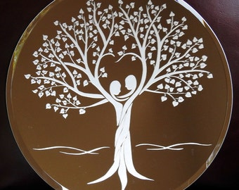 Unity Tree of Life Acid Etched Mirror