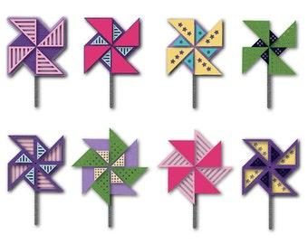 Sizzix - Triplits Die Set 12PK - Pinwheels by Stephanie Barnard
