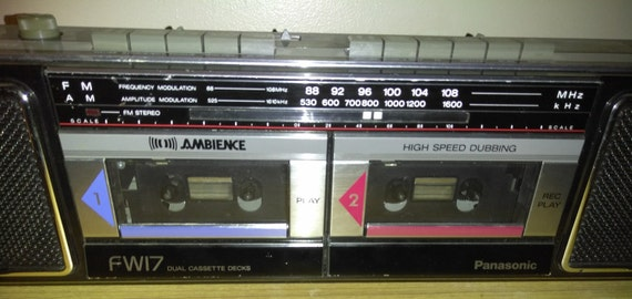 PANASONIC RX-FW17 Dual Cassette Boombox For Parts or Repair